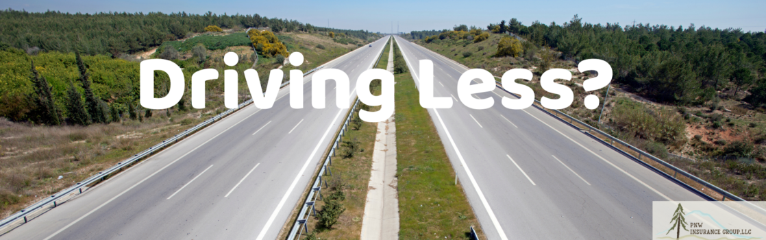 Driving Less? Image of empty highway.