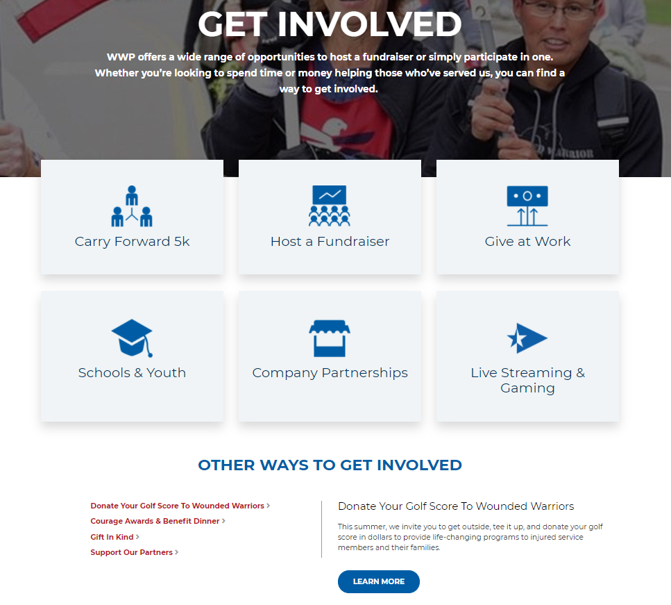 Get Involved with Wounded Warrior Project